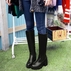 Shoes Galore - Block Heel Tall Boots