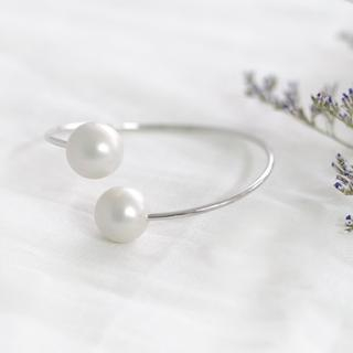 45SEVEN - Faux-Pearl Metal Bangle