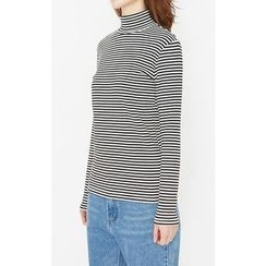 Someday, if - Mock-Neck Striped Top