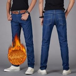 Neptuno - Fleece-lined Straight Jeans