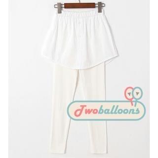 JVL - Inset Shirt-Hem Skirt Leggings
