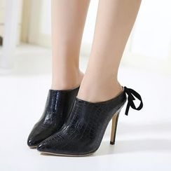 Anran - High Heel Tie Back Mules