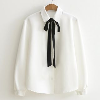 Nycto - Bow Neck Blouse