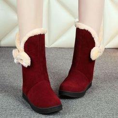 Sidewalk - Kids Bow Mid Cuff Boots