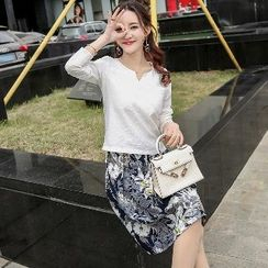 Romantica - Set: Top + Printed Skirt