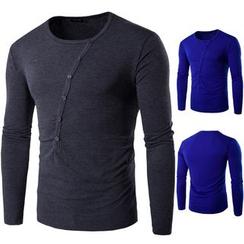 Blueforce - 裝飾鈕扣長袖T恤