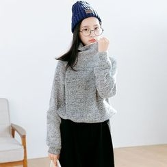 Forest Girl - Cowl Neck Oversized Sweater