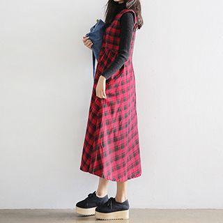 Jolly Club - Plaid Sleeveless Dress