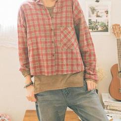 GOROKE - Dolman-Sleeve Pocket-Front T-Shirt