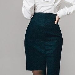 Aurora - Asymmetric Hem Pencil Skirt
