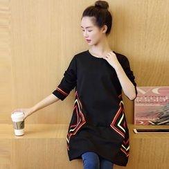 Ohayo - Maternity Printed Long Pullover
