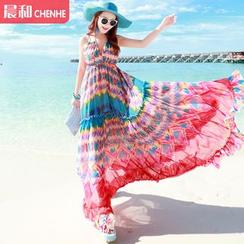 Morning Dew - 圖案雪紡沙灘裙