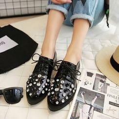 JY Shoes - Rhinestone Oxfords