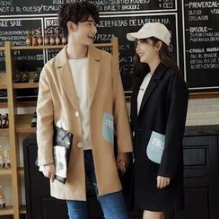 Tabula Rasa - Couple Matching Panel Wool Coat