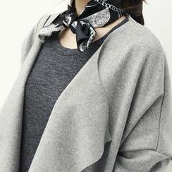 NANING9 - Wool Blend Open-Front Coat