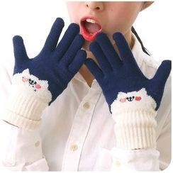 Momoi - Cartoon Embroidered Gloves