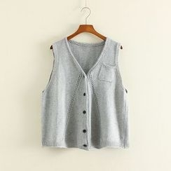 Mushi - V-Neck Knit Vest