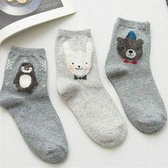 Knit a Bit - Animal-Pattern Socks 3 Pairs