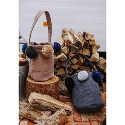 GOROKE - Pompom Quilted Lightweight Bucket Bag