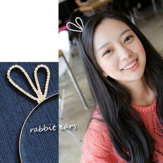 Clair Shop - Rhinestone Rabbit-Ear Hair Band