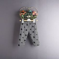 Kidora - 儿童星星细条纹长裤