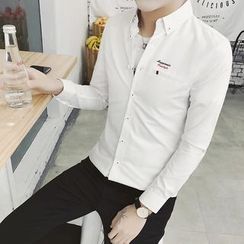 Besto - Letter Embroidered Shirt