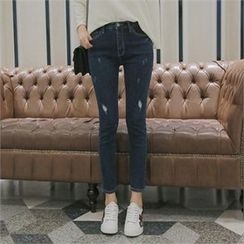 TOM & RABBIT - Distressed Washed Skinny Jeans