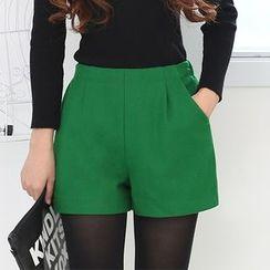 LITI - High-waist Woolen Shorts