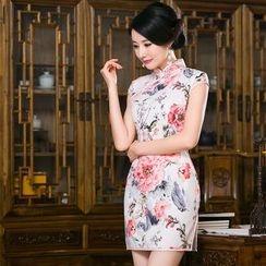 Bridal Workshop - Cap-Sleeve Floral Cheongsam