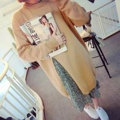 MATO - High Slit Long Sweater