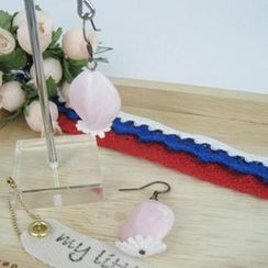 MyLittleThing - Elegant Lace Bead Earrings(pink)