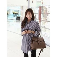 hellopeco - Long Striped Shirt