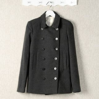 YesStyle Z - Double-Breasted Peacoat