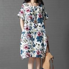 Epoch - Short-Sleeve Floral T-Shirt Dress