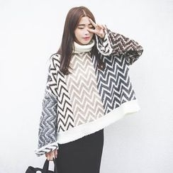 Polaris - Wavy Striped Long Sweater