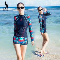 INSTIL - Set: Patterned Raglan Rashguard + Shorts