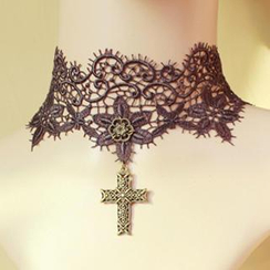Fit-to-Kill - Lace Cross Necklace