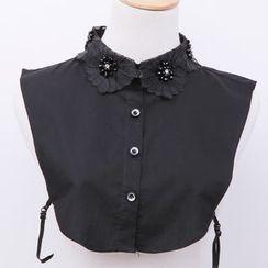Giyomi - Flower Beaded Decorative Collar