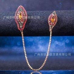 潮野 - 水钻链条胸针