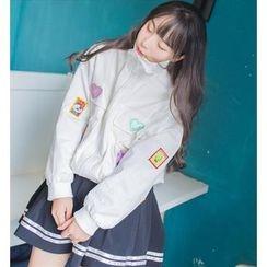 GOGO Girl - Applique Zip Jacket
