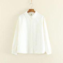 三木社 - 皺摺邊長袖襯衫