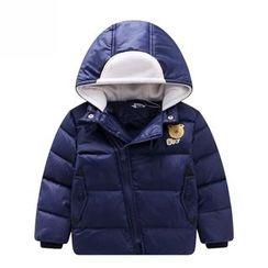 Endymion - Kids Bear Print Hooded Down Jacket