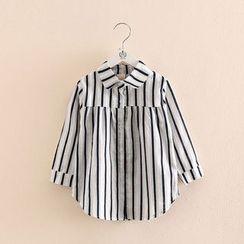 貝殼童裝 - 兒童條紋長袖襯衫