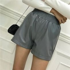 Octavia - Faux Leather Shorts