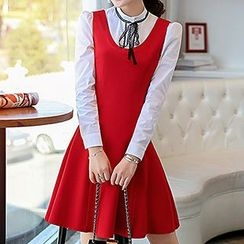 Romantica - Set: Long-Sleeve Blouse + Sleeveless Dress