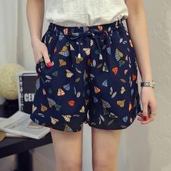 VIZZI - Print Wide Leg Shorts
