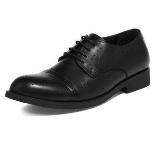 yeswalker - Genuine Leather Perforated Oxford Shoes