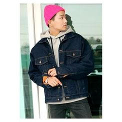 HOTBOOM - Denim Fleeced-Line Jacket