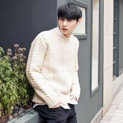 TOMONARI - Wool Blend Cable-Knit Sweater