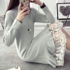 Qimi - Frill Hem Sweater Dress